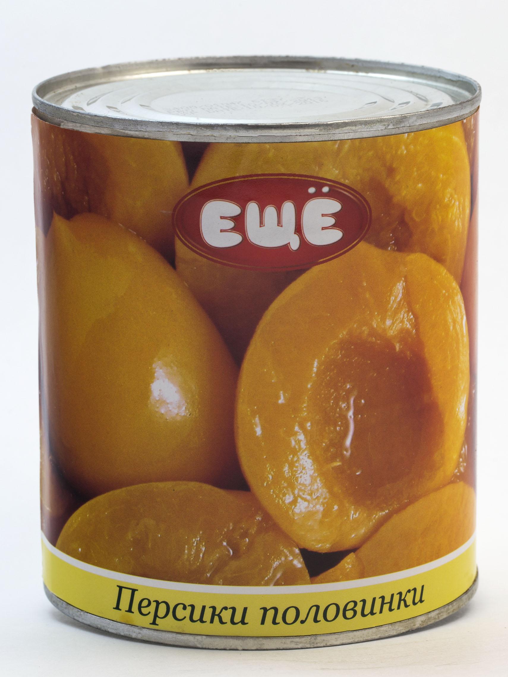 Персики половинки, ж/б, 850 мл.